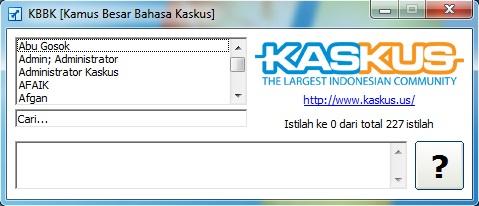 Download Software Kamus Istilah Kaskus